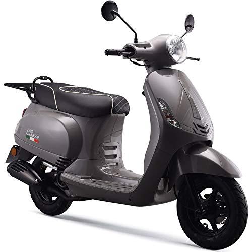 Preisvergleich Produktbild iVA Motorroller LUX Euro-4-Norm 25km / h Grau