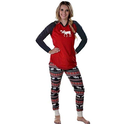 mangotree-damen-schlafanzug-weihnachten-familie-pyjama-setzt-kinder-mama-papa-hirsch-gedruckten-sais