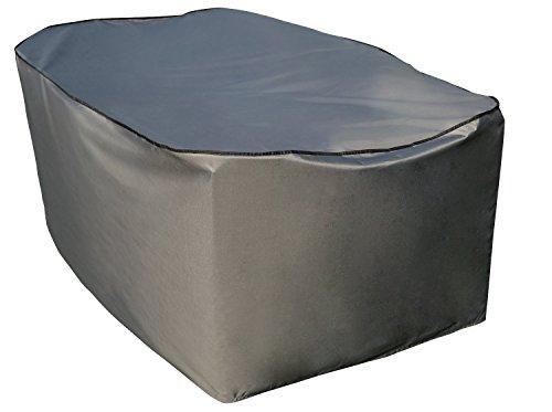 Copri copertura cover protezione per tavolo rettangolare   170 x 100 x 70 cm (l x p x a)   grigio   idrorepellente   sorara   poliestere con strato in poliuretano   per mobili da giardino, terrazzo
