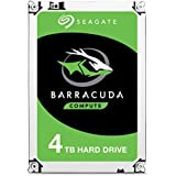 Seagate 4 TB BarraCuda 3.5 Inch Internal Hard Drive (5400 RPM, 256 MB Cache, SATA 6 Gb/s, Up to 190 MB/s, Model: ST4000DMZ04/DM004)