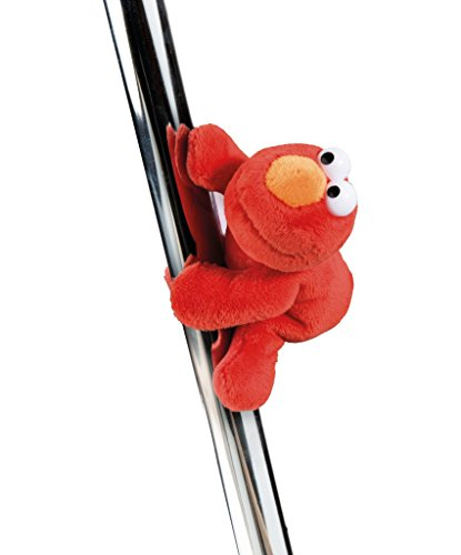 NICI 41963Material Peluche Relleno: Relleno (plástico 100% poliéster Ojos: Sesam Calle magnético Animales Monster Elmo, 12cm), Color Rojo
