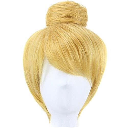 ZYC Kurze Blonde Fee Prinzessin Kostüm Cosplay synthetische Perücke für Halloween Party Kostüm - Mensch Fee Kostüm