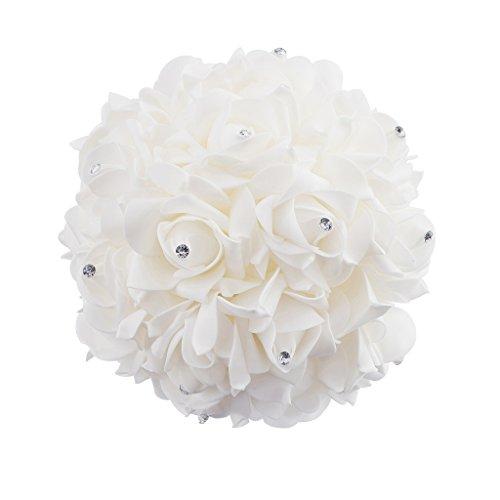 stliche Rosen Blumen Blumenstrauß Hochzeit Dekoration - Weiß (Blumen Bouqet)