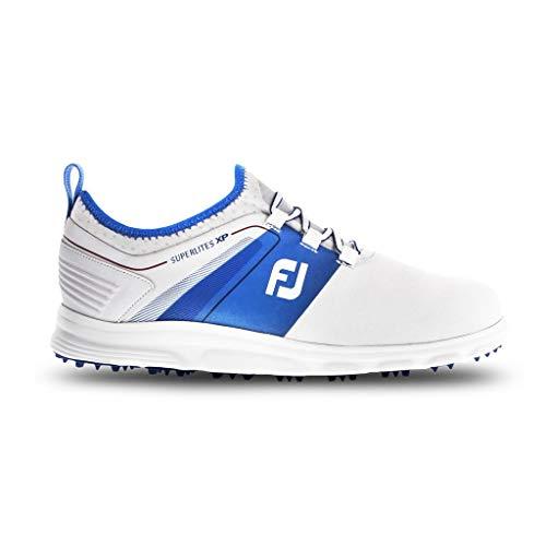 Footjoy Superlited XP Scarpe da Golf Uomo, Bianco (Blanco/Azul/Rojo 58063m) 42 EU