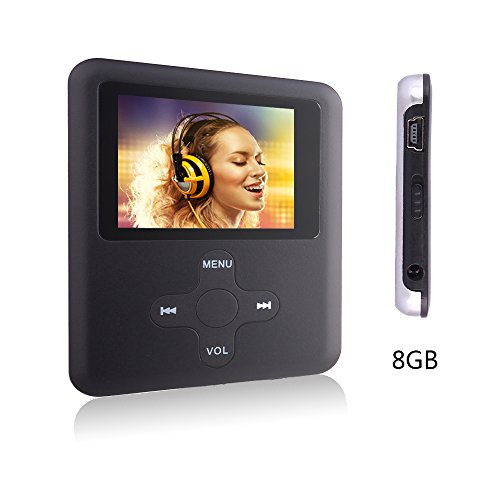 Btopllc MP3-Player,MP4 Player 8GB Karte,MP3 tragbarer Musik-Player,Video Player USB,MP3/MP4 Digitaler Musik Player Klassisch wiederaufladbar/Media Player/Video/Audio Player/Multimedia Player- schwarz