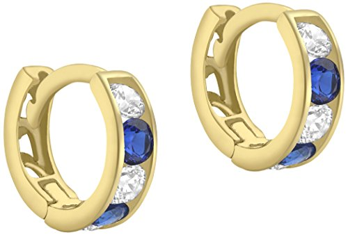 carissima-gold-damen-creolen-9ct-yellow-white-and-blue-cubic-zirconia-huggy-earrings-375-gelbgold-zi
