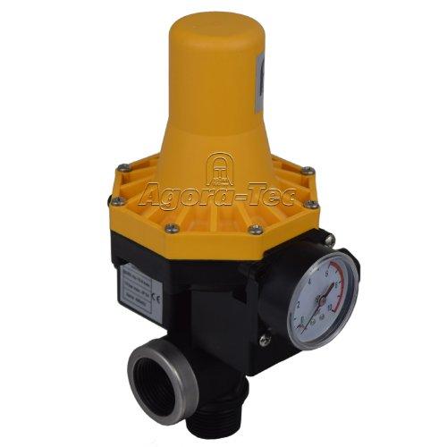 Agora-Tec Pumpen Druckschalter AT-DW-3 ohne Kabel zur Pumpensteuerung für Kreisel-, Tauch- Tiefbrunnenpumpen mit Betriebsdruck von 7 bar, AT 003 001