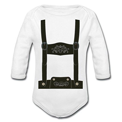 Lederhose Tracht Baby Langarm-Body von Spreadshirt® (Kleine Lederhosen Kostüme Für Babys)