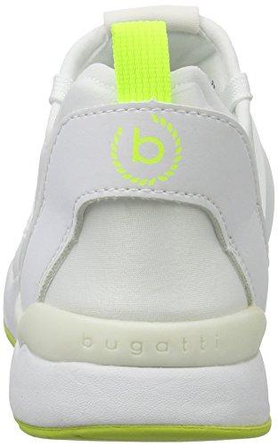 Bugatti - Dy50096n6, Scarpe fitness Donna Weiß (Weiss / Neongelb)