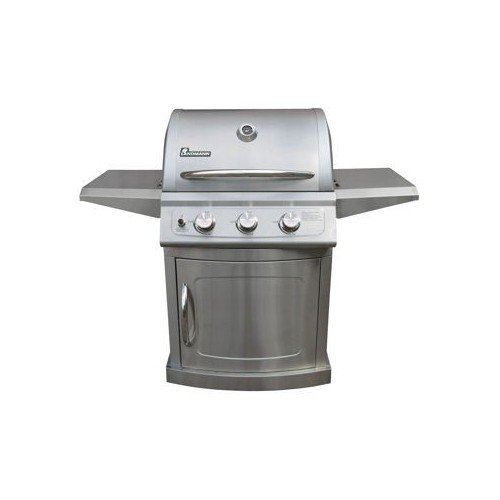 Grills-this 3-burner barbeque grill provides 12,000 btu's for each burner allowing this gas grill to cook your foods eveningly & completely. Included w/this bbq grill are push button ignition, folding side shelves & a cover to protect your grill.Sale
