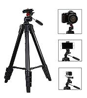 Feature -Portable et léger: Fotopro DG-3400 caméra trépied est conçu pour voyage et activité au dehors. Il est très portable et léger avec un poids de 1.26lb(0.54 kg) et une hauteur de stockage de 14 pouces(38cm). Il y a aussi un sac de transport dur...