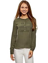 Blusas Tops Camisas Amazon Camisetas Y Mujer Camisa Militar es IZqpwT7