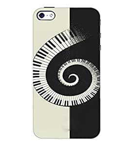 PrintDhaba Piano Pattern D-4466 Back Case Cover for APPLE IPHONE 4 (Multi-Coloured)