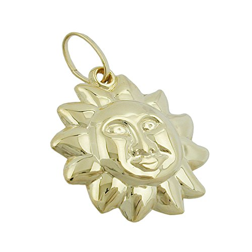 Dreamlife Anhänger 16x15mm Sonne mit Gesicht 9Kt GOLD