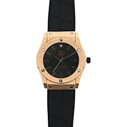 Calgary Women´s Quartz watch Golden Monterosso Black with silicone strap
