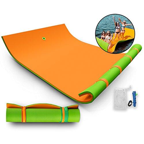 Guellin 2.7x1.8m/3.7x1.8m Colchoneta Flotante Estera Flotante para Nadar...