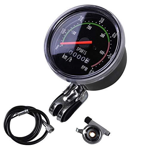 Doubleer Fahrrad-Geschwindigkeitsmesser-Klassischer mechanischer Straßen-Mountainbike-Geschwindigkeitsmesser-Radfahren-Kilometerzähler-Stoppuhr-Wasserdichter Geschwindigkeitsmesser