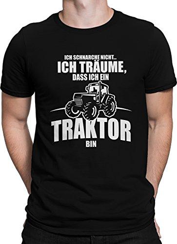 vanVerden Unisex T-Shirt XS-5XL Ich schnarche nicht, bin ein Traktor., Color:Schwarz, Größe:L