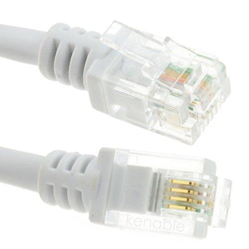 ADSL 2 + Hoch Geschwindigkeit Breitband Modem Kabel RJ11 Zum RJ11 15 m Weiß