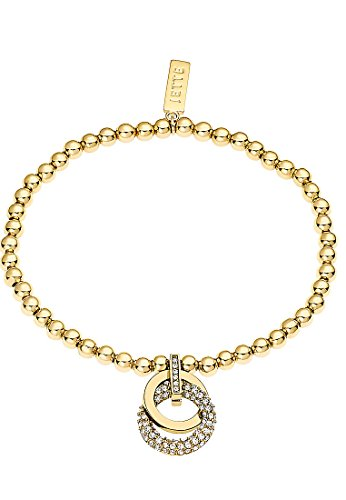 JETTE Magic Passion Damen-Armband Metall 64 Kristall One Size, gold