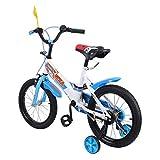 MuGuang 16 Pouces Vélo Enfant Étude d'apprentissage équitation vélo garçons Filles vélo avec stabilisateurs Vélo pour Enfant de 4 à 8 Ans Children(Bleu)
