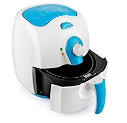 RNG EKO GREEN 2.4-Litre 1400-W AIR FRYER(Blue & White, 2 Year Warranty)