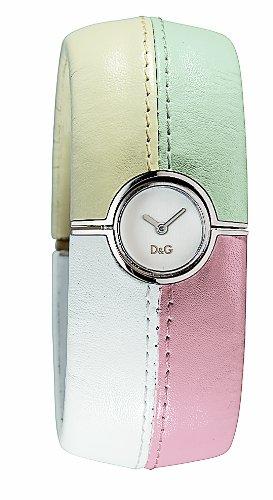 D&G Dolce&Gabbana DW0413 - Reloj analógico de mujer de cuarzo con correa de piel multicolor