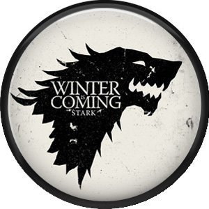 Game Of Thrones House of Stark/ Winter is Coming -55mm Round Photo Fridge Magnet