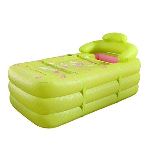 Badewannen mit Belüftung Doppel - aufblasbare Badewanne Thick Haushalt Paare Badewanne Erwachsenen-Falterwanne Große Badewanne aus Kunststoff (Color : GREEN)