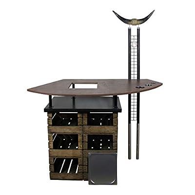 Rogge´s RelaxGrill Bartisch Longhorn I, Stehtisch mit integriertem Getränkekühler - Biertisch, Gartentisch, Partytisch, Grilltisch