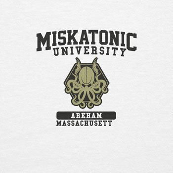 Planet Nerd Miskatonic University - Damen T-Shirt Weiß