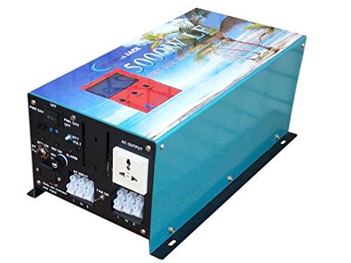 ATS 5000W Convertisseur Pur Sinus onduleur 24V à 220V Onde sinusoïdale Pure Power Inverter/UPS/Chargeur de Batterie 80A