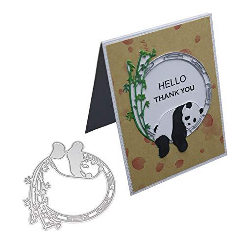 en, Panda Ring Metall Stanzformen DIY Scrapbooking Gru?Karten Pr?geschablone - Silber ()