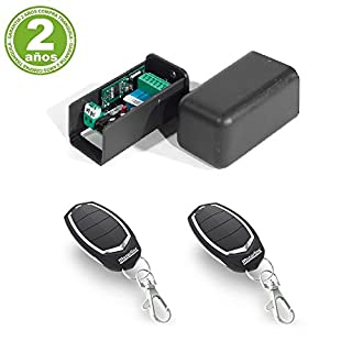 Kit 1 Receiver Universal 500 Users + 2 Remotes Garage MOTORLINE Falk 433 MHz for Garage Doors automaticas