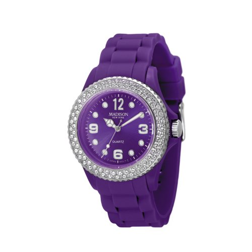 Madison New York Unisex-Armbanduhr Juicy Glamour Analog Silikon U4101M2
