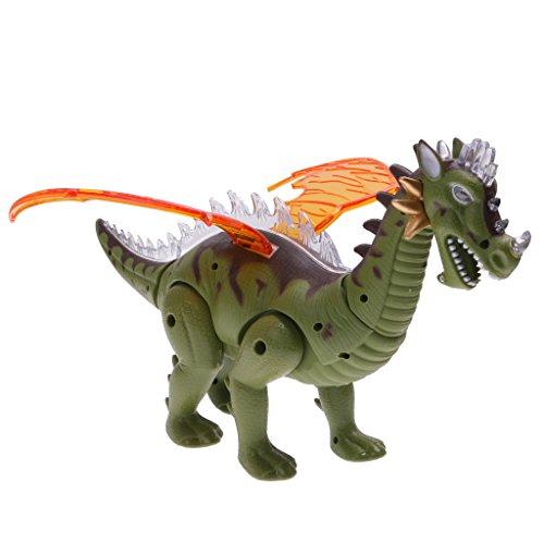 Juguete Animal Jurásico Dinosaurio Robot Eléctrico Alas Iluminan 697 Niños