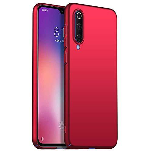 RFLY Funda Xiaomi Mi 9 Funda Protectora Resistente A Prueba De Golpes, Mate, Delgada, Dura y Rígida para PC Xiaomi Mi 9 SE, Rojo