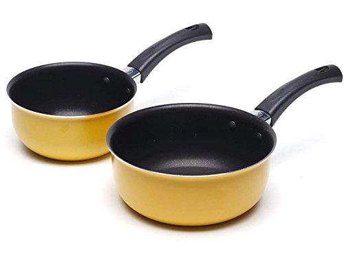 Petite poêle à sauce casserole anti-adhésive pour les potages au lait - Ensemble de départ 12 et 14cm