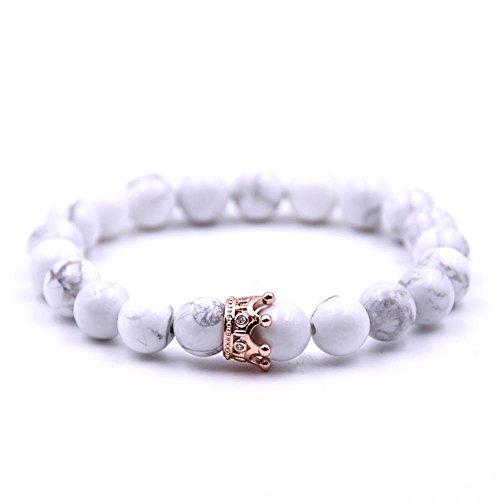 223948cd6e36 Mayanyan Male and female zircon crown volcanic stone white pine stone  bracelet