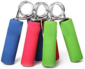 Spring Resistance OT-SF-HND-GRP-KB65-064 Hand Grip Exerciser with Sponge Handle for Young and Old - Grip Strengthening, Toning Forearms
