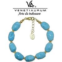 Venetiaurum by Linea Italia - Bracciale in vetro originale di Murano e Argento 925 - Gioiello made in Italy certificato