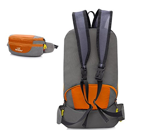 Borsa all'aperto alpinismo piegato tasche di borsa a tracolla unisex coppia , orange Green