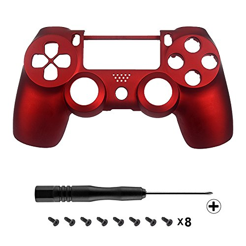 extremerater-red-soft-touch-front-upper-shell-faceplate-replacement-parts-for-ps4-controller