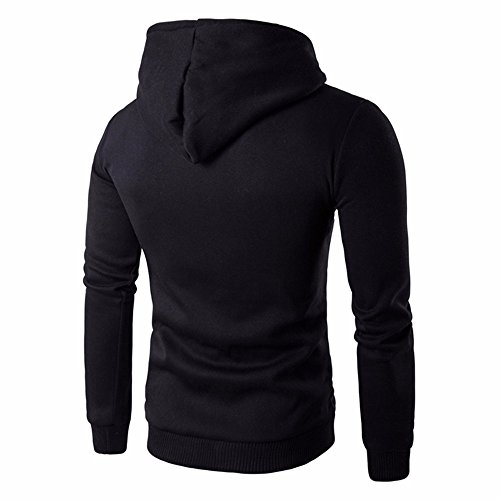 Hiver Homme Fermeture à glissière Manteau Homme Sweat-Shirt Sauvage À Capuche Tenue décontractée Veste