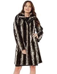 d403df93e Roman Originals Women Faux Fur Longline Coat - Ladies Autumn Winter Luxury  Soft Cosy Warm Comfortable