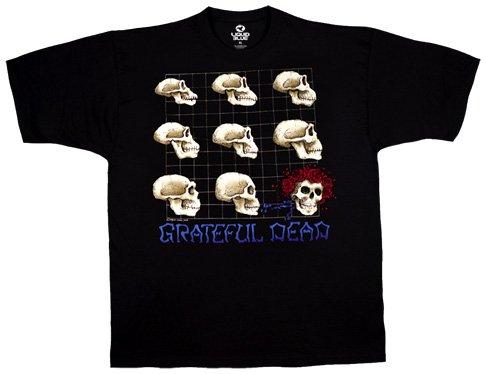 TAILAD Men's Grateful Dead Evolution Short Sleeve T-Shirt (Short Sleeve Dead T-shirt)