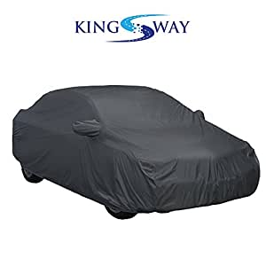 Kingsway Car Body Cover with Mirror Pockets for Honda Brio (Color May Vary, 2x2, Heavy Quality Fabric)
