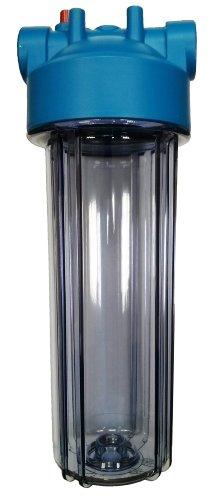 """10\""""filtro de agua vivienda, 3/4\"""" BSP Latón puertos con PRV, cuenco de tamaño estándar (transparente)"""