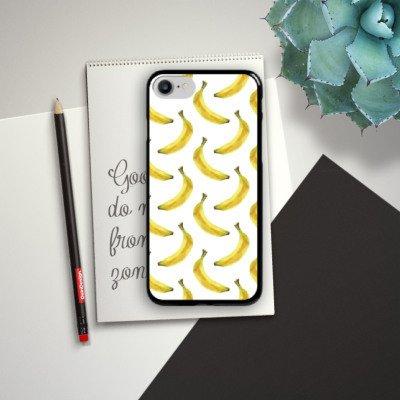 Apple iPhone X Silikon Hülle Case Schutzhülle Bananen Sommer Früchte Hard Case schwarz