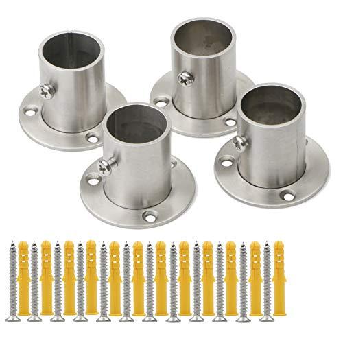 Pxyelec - Soporte para barra de armario de acero inoxidable para tubo de acero de 25 mm de diámetro...